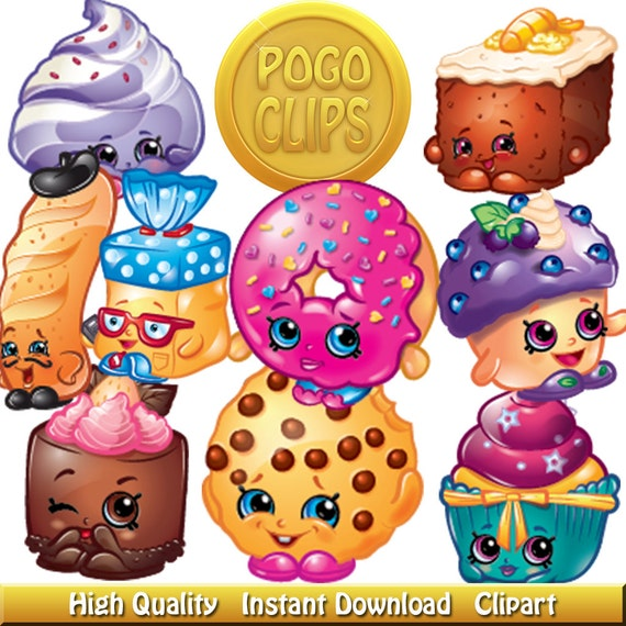 70 Shopkins Bakery Team Characters Clip Art Diy By Pogoclips