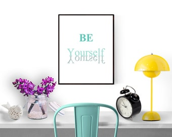 Typography wall art, Instant download printable art