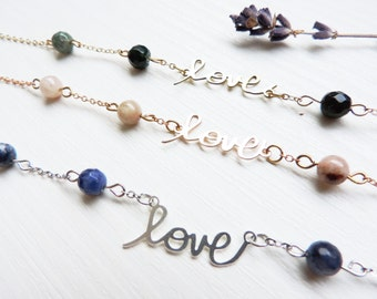 Love Bracelet, romantic, silver, gold filled, rose gold, pearl