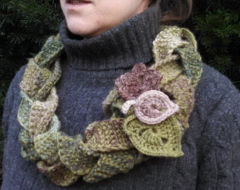Braided Wool Forest Cowl