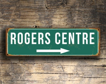 ROGERS CENTRE SIGN, Vintage style Rogers Centre Stadium Sign, Home of the Toronto Blue Jays, Baseball Signs, Blue Jays, Toronto Blue Jays