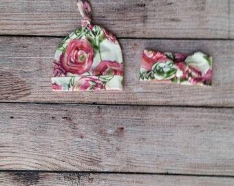 Adorable rose headband or beanie / baby headband / baby beanie / toddler headband / toddler beanie / girl headband / girl beanie