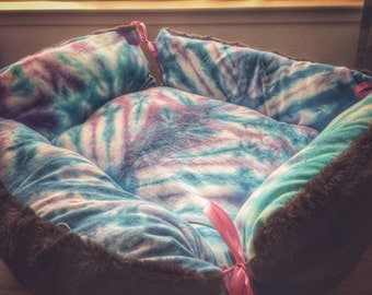 Cat Dog Bed Large Tie Dye