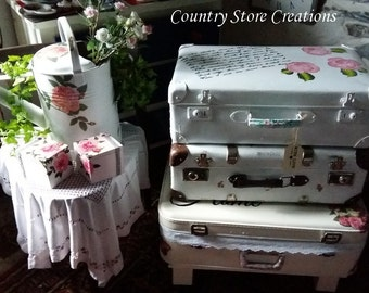 """Suitcase """"With Love"""" #shabbychic"""