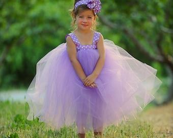 Lavender Tulle Flower Girl Dress Wedding Flower Girl Dresses for Toddlers Girls Tulle Dress Flower Girl Tutu Toddler Flower Girl Dress Tutu