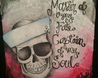Master of Fate Skull Painting