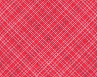 Calico Days by Lori Holt for Riley Blake Designs - C6036 Plaid Red - 1/2 yard