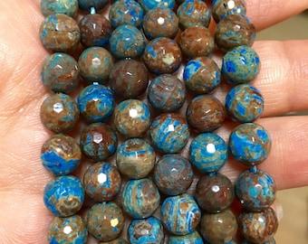 8mm Blue Sky Jasper Faceted Beads - 15 inch Full strand - Faceted Gemstone Beads