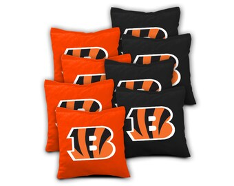 CINCINNATI BENGALS Set of 8 ACA Regulation Cornhole Bags Bean Bag Toss