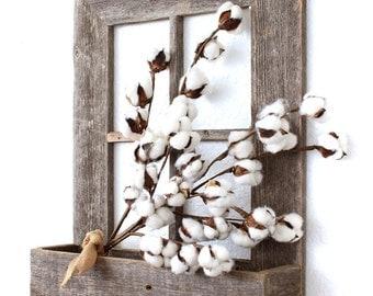 BarnwoodUSA Rustic Wooden Window Planter Box, Wood Planter Stand, Weathered Gray
