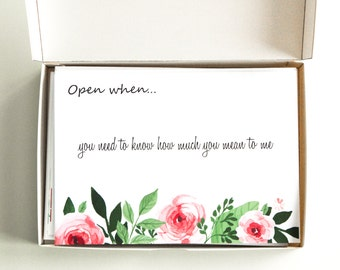 Open when love letters set of 15, open when letters in a box