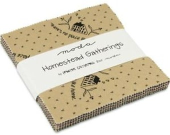 """Homestead Gatherings - Moda Charm Pack 5"""" Squares"""