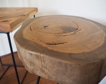 Unique recycled Stump Side Table Stool