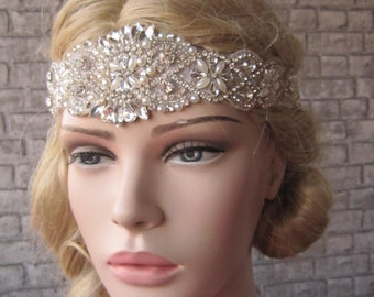 Bridal Headband/ Wedding Headband, Bridal Headpiece, Wedding Headpiece, Crystal and pearl Wedding Headband