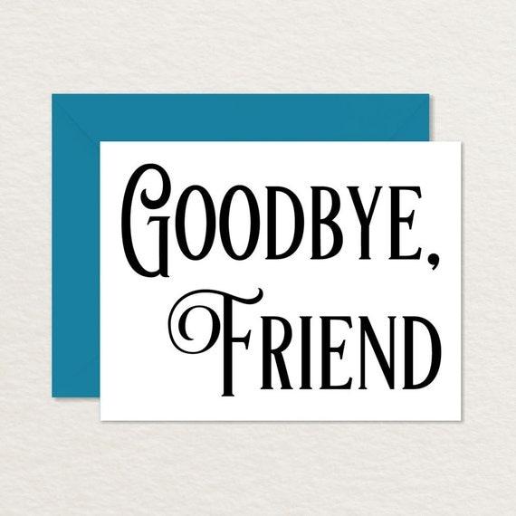 printable goodbye card vintage goodbye card printable