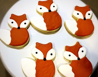 Fox Sugar Cookies- 1 Dozen