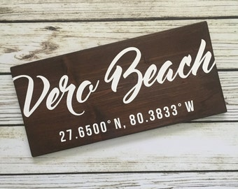 Custom Location Sign – large wood wall sign