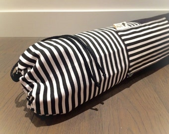 hāYoga Mat Bag - Black/White Contrast