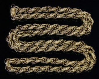 Antique Georgian Long Georgian Chain 38 Inches – 88.2 Grams – Circa 1780