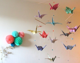 Large origami cranes Liberty mobile