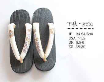 Tung geta wooden clogs:23cm-24.5cm camellia