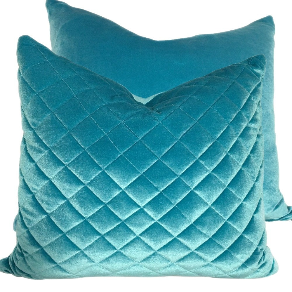 Set Of Teal Blue Pillow Covers For Couch Sofa Or By Homeright