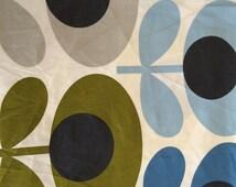 Orla Kiely printed fabric - multi flower - blue/yellow