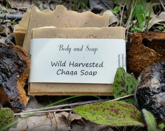 Wild Harvested Chaga Soap Cold Process