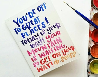 you're off to great places!   graduation card   congratulations card   congrats   handmade card   greeting card