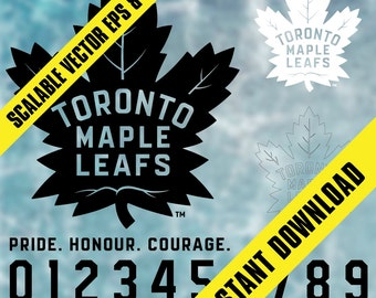 Toronto Maple Leafs Logos / Jersey Letters / .Svg & .Eps Vector Files / INSTANT DOWNLOAD