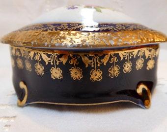 Antique Porcelan Jewelry Box