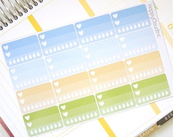 Field of Daisies Glossy Heart Hydration Planner Stickers
