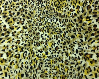 Cheetah-Looking Fabric in Tans, Blacks, Browns, It's A Jungle Out There by Choice Fabrics, 100% Cotton