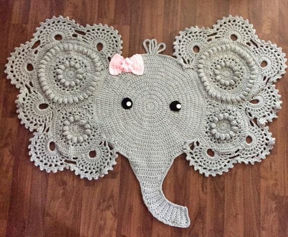 Large Crochet Elephant Rug