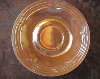 Anchor Hocking Fire King Peach Luster Saucer-1950's - Item #1067