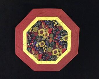 Sunflower & Field of Flowers Octagon