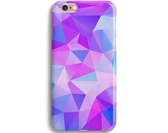 Polygon geometric purples - iPhone 7 case, samsung s7 case, iphone 7 plus case, iphone se case 1P016B