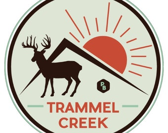 Trammel Creek Paddle Badge Decal, Kayak Art, Canoe Decal, River Life, Adventure Stickers, Kentucky Decal