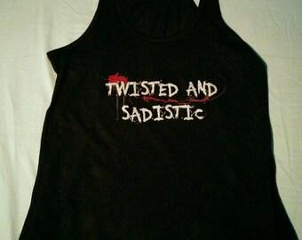 Twisted and Sadistic Women's Black Flowy Tank
