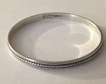 Beautiful sterling silver bangle bracelet.