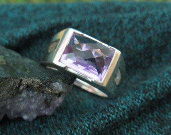 Amethyst set ring