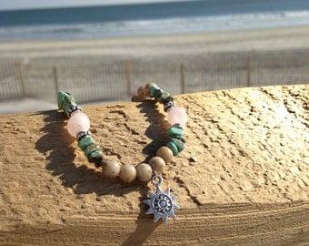Pink sun beam bracelet