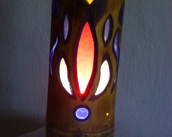 Lamp of atmosphere in bamboo.