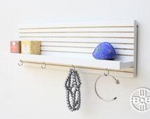 Jewelry Rack, Accessory Organizer, Gifts for Her, Floating Ledge Shelf, Key Holder With Shelf, Jewelry Hanger, Key Hook, Entryway Key Holder