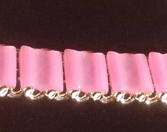Vintage Lavender Lucite Link Bracelet, 50's