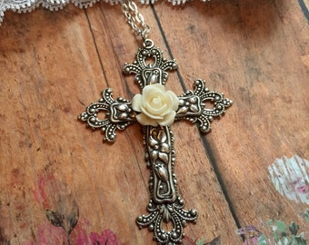 Victorian Cross Necklace
