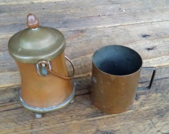 Brass and copper pots vintage wedding