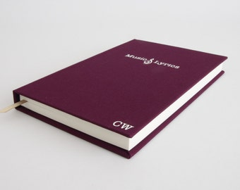 Music Gift - Personalised Notebook - Musical Gift Idea for Music Teacher, Musician, Singer, Song Writer