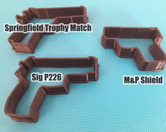 Handgun Cookie Cutters (Sig P226, SFA Trophy Match, and M&P)