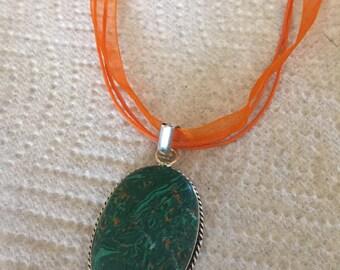 Genuine green unakite pendant